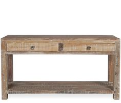 Bianca Console Table - Constructed of reclaimed and restored teak planks as well as recycled wood sourced from old buildings and shipyards, the Bianca is a unique one-of-a-kind