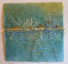 Roberta Wagner is an artist, gardener, aspiring yogi, and bank consultant. This is her phenomenal gallery of slow-stitched fabric art. Art Textile All Galleries — Roberta Wagner Sashiko Embroidery, Hand Embroidery Patterns, Embroidery Art, Embroidery Stitches, Ribbon Embroidery, Textile Patterns, Knitting Stitches, Textile Fiber Art, Textile Artists