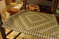 Diamond in black/olive/beige stripe Weave, Patterns, Rugs, Chair, Diamond, Projects, Black, Home Decor, Block Prints