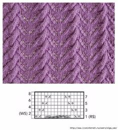 Lace Pattern -- Chart is in Pinterest Image
