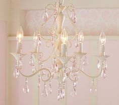 I love the Pink Alyssa Chandelier on potterybarnkids.com. Definitely tempted to get this for the girls' room!