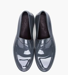 Yves Saint Laurent Grey Kennedy Show Loafers for men | SSENSE-2