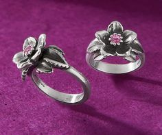The Christmas Rose Ring with Pink Sapphire from James Avery Jewelry