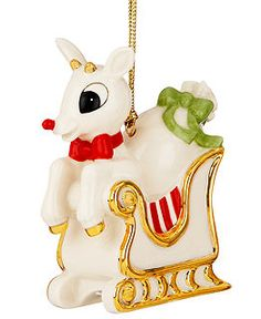 Pure ivory porcelain takes a fun shape in this Lenox ornament featuring Rudolph the Red-nosed Reindeer. Excited to help Santa deliver presents, he nearly jumps. Lenox Christmas Ornaments, Christmas Moose, Christmas Animals, Christmas Trees, Merry Christmas, Rudolph The Red, Red Nosed Reindeer, All Holidays, Hanging Ornaments