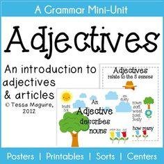 Adjectives Colors Worksheet English/Language Arts