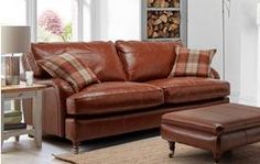 Gower Leather Grand Sofa Gower Leather
