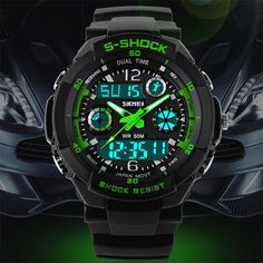 2016 Men Quartz Digital Watch Men Sports Watches Relogio Masculino SKMEI S Shock Relojes LED Military Waterproof Wristwatches Like and Share if you want this  #shop #beauty #Woman's fashion #Products #Watch