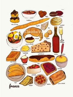 French cuisine by ClaudiaVarosio on Etsy
