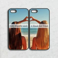 ipod 5 caseiphone 5c caseevery brunette need a blonde by BFF1828
