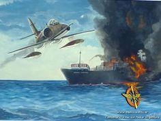 A-4 SkyHawk terminando de bombardear