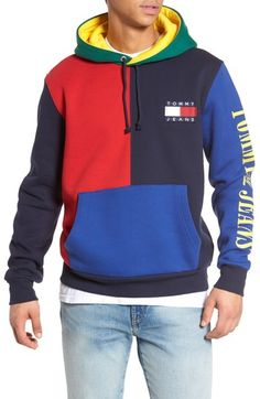 d6c334ea96aa35 TOMMY HILFIGER 90S COLORBLOCK HOODIE.  tommyhilfiger  cloth