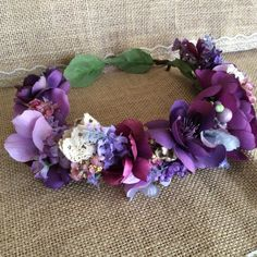 Gorgeous. Purple flower crown. Roselily pretties M2m well dressed wolf lavender