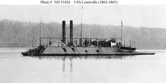 Civil War/ USS Louisville (1862-1865) Halftone reproduction of a photograph taken on the Western
