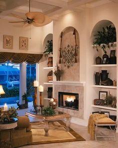 Neutral color palette w/ arched niches & decorative elements - sater design.com