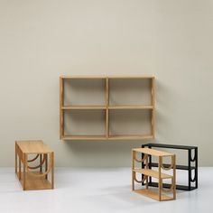 The arch-inspired shelving system by Note Design Studios is a simple yet powerful change for a household bookshelf.