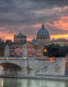 Heavenly light over St. Peter's Basilica and the Tiber River inRome - Photo By Jason L.