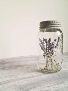 Vintage Crown Mason Jar with Lavender Wedding Decor Photo Prop via Etsy