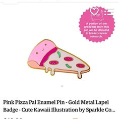 Yay! Just ordered this supercute pink pizza pin on Etsy from @sparkle.collective  which also helps benefit breast cancer research. Win win