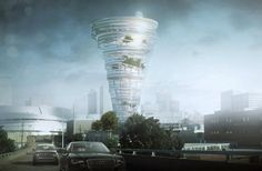 Local architecture firm Kinslow, Keith & Todd (KKT) has proposed a new tornado-shaped building for downtown Tulsa, considering that Tulsa county — smack dab in middle of the Oklahoma stretch of Tornado Alley — has been the site of more than 75 twisters since 1904. a.k.a. the Oklahoma Weather Museum and Research Center