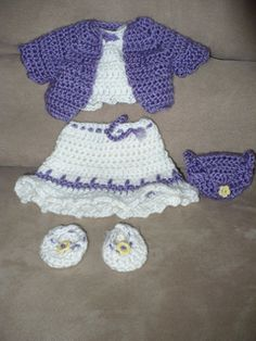 """18"""" complete doll outfit including jacket, shirt, skirt, hat, shoes, and purse. Fits perfectly on American Girl dolls."""