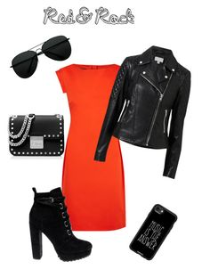 """red&rock"" by s-mihlik on Polyvore featuring мода, Boutique Moschino, Witchery, Daya, MICHAEL Michael Kors и Casetify"