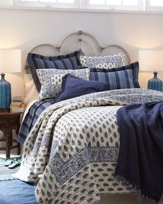 Annette & Cameroon Bedding by Pine Cone Hill at Horchow.