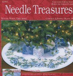Christmas Tree Skirt Mini Cross Stitch Kit Santa's Visit Hobby Craft 9235 |  Hobby craft, Tree skirts and Cross stitch kits