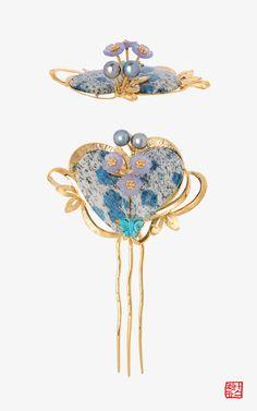 [[나스첸카] 꿀비 머금다 _ 아주라이트 뒤꽂이 _ 떨 뒤꽂이] Korean Jewelry, Coral Earrings, Silver Wedding Rings, Korean Traditional, Jade Pendant, Hair Sticks, Zipper Bags, Hair Jewelry, Silver Color