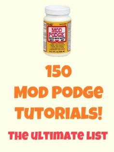 Mod Podge Craft Tutorials!  #DIY #craft #modpodge #tutorials