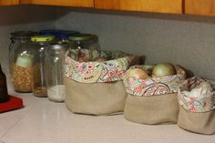 Burlap Fabric Basket I Sew These Easy Decorative Fabric Baskets Perfect For Holidays
