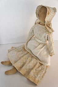 "A very unique 23"" tall cloth doll c1870-1880"