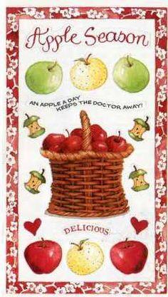 Susan Branch Stickers - HARVEST Apple Season | eBay