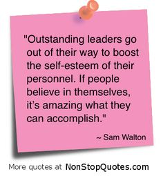 Be an outstanding leader