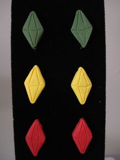 The Sims Plumbob Earrings. $3.50, via Etsy.