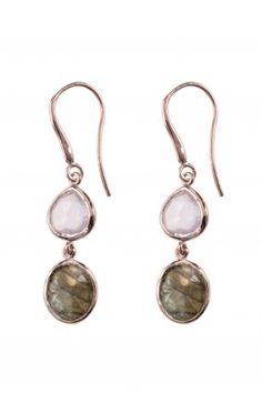 add some feminine elegance to any ensemble with these understated yet adorable #gemstone #earrings I NEWONE-SHOP.COM