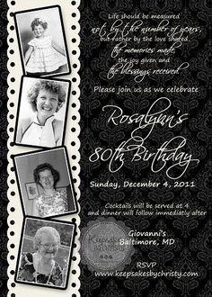 Custom Photo Milestone Birthday Invitation - Keepsakesbychristy