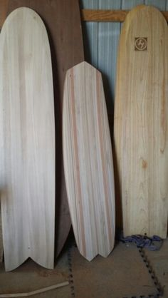 Some hollow wood surfboards I'm working on....paulonia alaia. ...my new hollow chambered kiteboard.