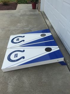 Indianapolis Colts Cornhole boards