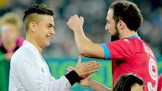 Paulo Dybala & Higuaín before the match between Juventus vs Napoli