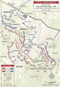 McPherson's Ridge Battle Of Gettysburg | Gettysburg - Devil's Den and Little Round Top