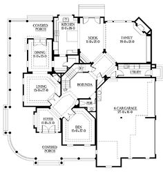 Home Plans HOMEPW05161 - 4,725 Square Feet, 4 Bedroom 4 Bathroom Country Home with 4 Garage Bays