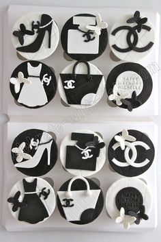 Chanel cupcakes!! I want these for my next birthday!