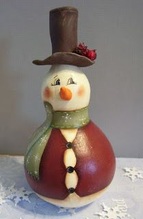 cute christmas gourds | Harmony Road Studio: Gourdy Folk for my next show