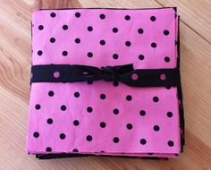 6 Quilting Squares Reclaimed Fabric Pink by Boutiqueatthebusybee