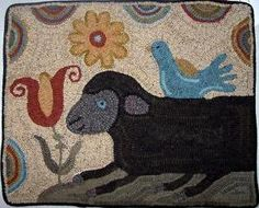 Hooked Sheep, Star Rug Company - Rug Gallery