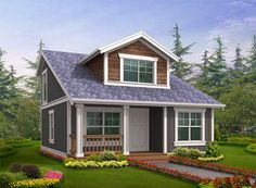 Plan 2395JD: Small House Plan with Two Exterior Choices