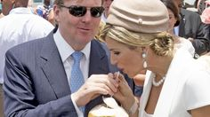 Queen Maxima and King Willem-Alexander of the Netherlands visited Sail Aruba 2015 on the island of Aruba on May 1, 2015 in Aruba.
