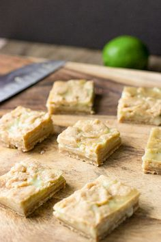 egg free recipe; lime curd bars; a homemade shortbread-like coconut flake crust topped with an eggless lime curd made with coconut milk
