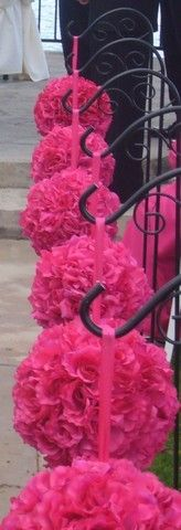4 inch Fuschia Pink Rose Flower Kissing by WeddingDecorOnline, $10.99
