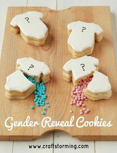 Baby Shower Gender Reveal Cookies | Craftstorming